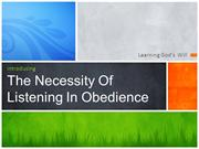 Listening and Obedience
