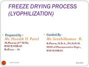 My freeze drying-2003