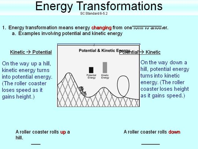 Energy Transformations And Conservation Notes Authorstream