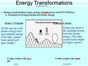 Energy Transformations and Conservation notes