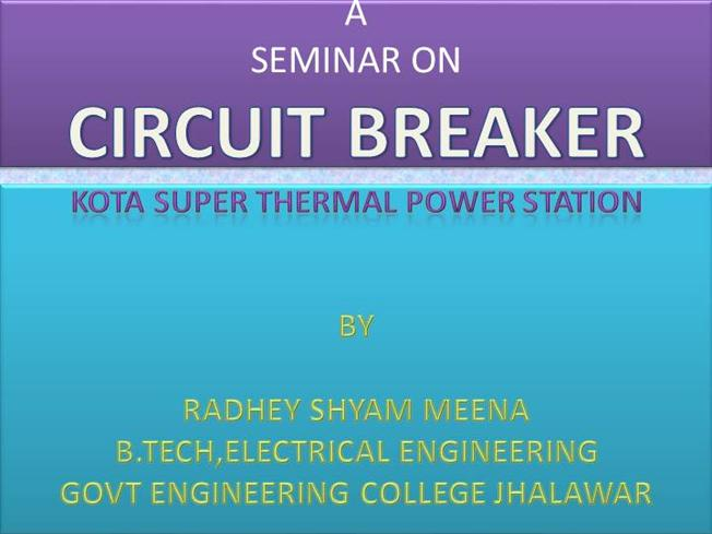 Classification Circuit Breaker Circuit Breaker