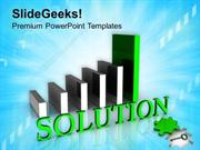 FINANCE BAR GRAPH WITH WORD SOLUTION PPT TEMPLATE