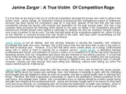 Janine Zargar  A True Victim  Of Competition Rage