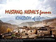 Mustang Nepal's former kingdom of Lo Manthang