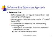 Software Size Estimation Approach