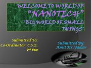welcome to world of nano