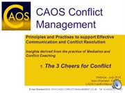 The 3 Cheers for Conflict - How to Resolve Conflict Effectively