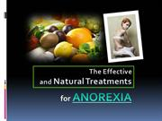 The Effective and Natural Treatments for Anorexia