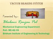 My seminar on VACUUME BRAKE