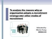 e-recruitment(HRM)_ppt