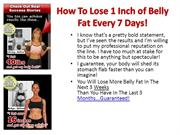 How To Lose 1 Inch of Belly Fat Every 7 Days!