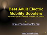Best Electric Mobility Scooters For Seniors