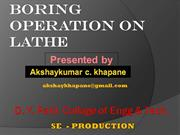 boring opration on lathe akshay khapane 25