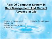 role of computer system in raw  data mamagementi