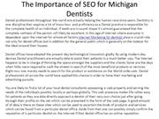 The Importance of SEO for Michigan Dentists