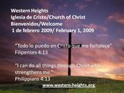 Bilingual Praise & Worship - 2/1/09
