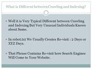 Different in Crawling and Indexing Accordingly Search Engine