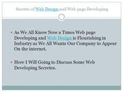 Secretes of Web Design and Website Design