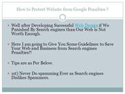 Stay Safe from Google Penalty Save Your Website from Google Penalty