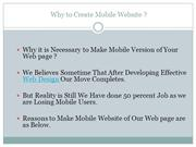 Why to Create Mobile Website