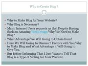 Why to make Blog