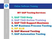 SAP TAO Project Support, Online SAP TAO, HP QTP, Automation Testing