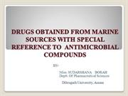 DRUGS OBTAINED FROM MARINE SOURCES