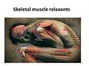 Skeletal muscle relaxants_2
