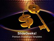 FINANCE GOLDEN KEY TIED WITH DOLLAR FINANCE PPT TEMPLATE