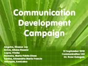 Comm 140 - Communication Dev