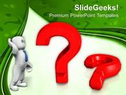 FINANCE MAN THINKING WITH QUESTION MARK PPT TEMPLATE