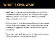WHAT IS CIVIL WAR