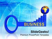 FINANCE 3D BUSINESS GLOBAL SUCCESS KEY PPT TEMPLATE
