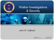 Walton Investigations and Security