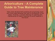 Arboriculture - A Complete Guide to Tree Maintenance