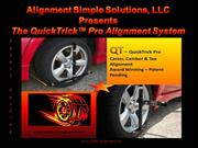 QuickTrick™ Alignment Pro Alignment System