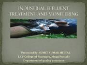 INDUSTRIAL EFFLUENT TREATMENT
