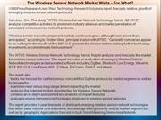 The Wireless Sensor Network Market Waits For What