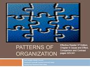 Patterns of Organization Comparison/Contrast & Cause/Effect