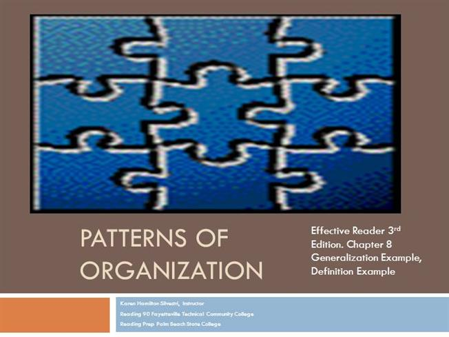 Patterns Of Organization DefinitionExample AuthorSTREAM Awesome Patterns Definition