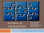 Patterns of Organization Definition/Example