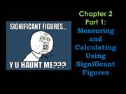 Measurement and calculating using Significant figures and Sci notation