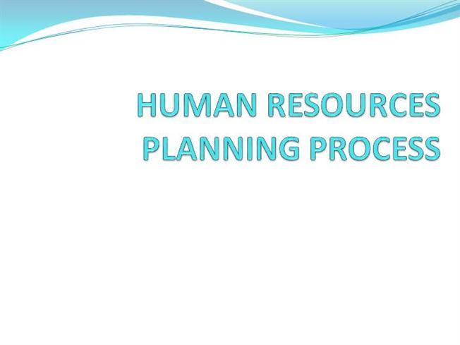 hr planning process presentation