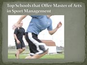 Top Schools that Offer Master of Arts in Sport Management