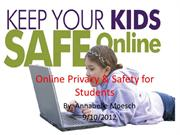 Online Privacy and Safety for Student