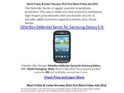 Black Friday 2012 OtterBox Defender Series for Samsung Galaxy S III
