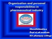 quality assurance organisations and personal responsibilities