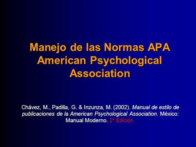 NORMAS APA 2002 EPUB DOWNLOAD