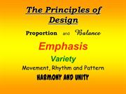 The Principles of Design show