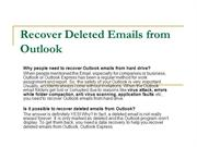How to Recover Deleted Emails from Outlook - Recovering Emails from Ou
